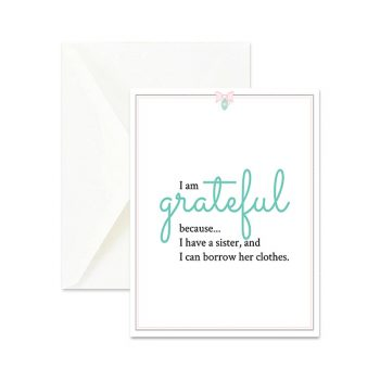 Grateful for Sister Cute Greeting Card
