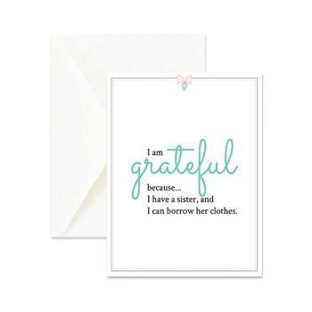 Grateful for Sister Cute Greeting Card