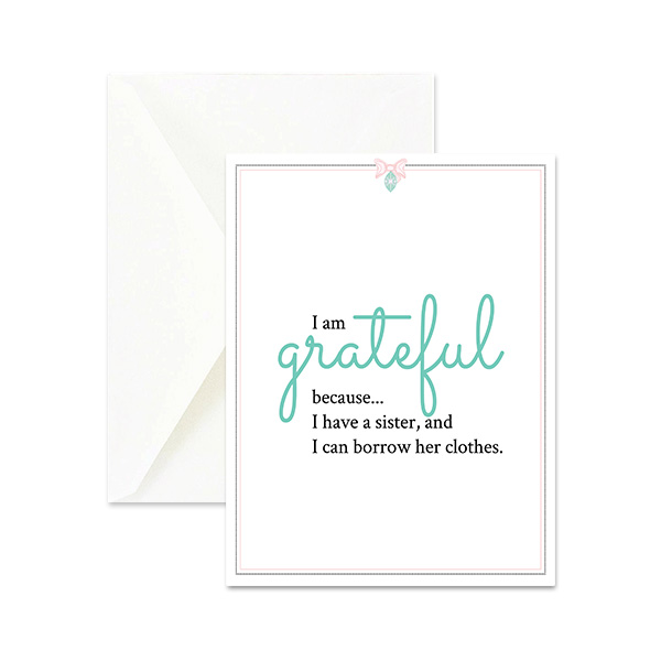 Grateful for sister cute greeting card happy rosy day grateful for sister cute greeting card m4hsunfo