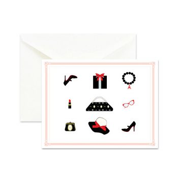 Outfit of the Day Fashion Holiday Cards