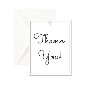 Happy Rosy Day Signature Thank You Card