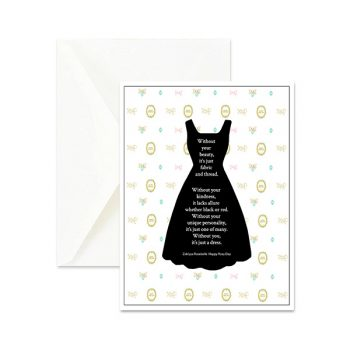Haute Couture Inspirational Greeting Card