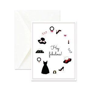 Hey Fabulous Fashion Greeting Card