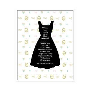 Without you, It's Just a Dress Fashion Wall Art