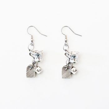 Happy Rosy Day Tea Earrings