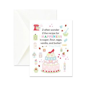 Recipe for Happiness Quote Greeting Card