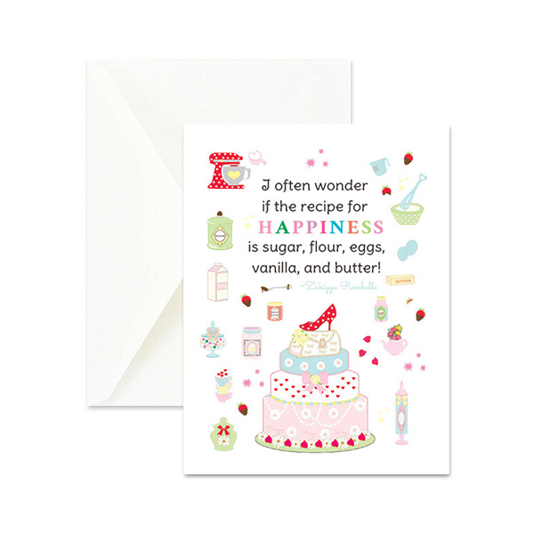 Miraculous Recipe For Happiness Quote Greeting Card Happy Rosy Day Personalised Birthday Cards Paralily Jamesorg